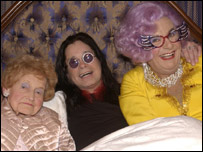 Pat Perry, Ozzy Osbourne and Dame Edna Everage