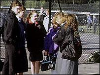 British children in school playground (file pic)