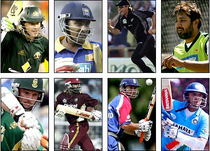 Captains of the eight major Test-playing nations are eyeing victory in the limited-overs Cricket World Cup