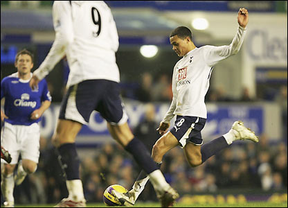 Jenas prepares to unleash his winning effort