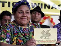 Rigoberta Menchu launching her Winaq movement