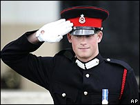 Prince Harry on parade