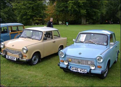 Father and son Trabants