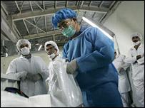 International Atomic Energy Agency (IAEA) inspector at the Isfahan Uranium Conversion Facilities