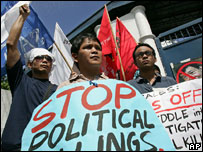 Protest against spate of killings of activists, Quezon, 2007