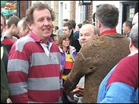 David Johnson at Shrovetide Football in Ashbourne