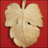 Cast of a fig leaf, courtesy of V&A