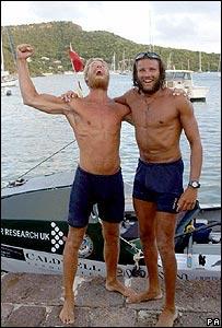 Ed Bayliss and Steve Turbull arrive in Antiqua