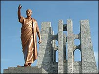Statue of Kwame Nkrumah in Accra