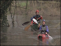 Canoeists on the River Avon