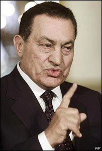 El presidente egipcio, Hosni Mubarak