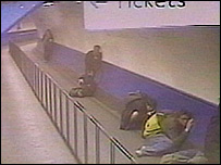 CCTV footage at Finsbury Park