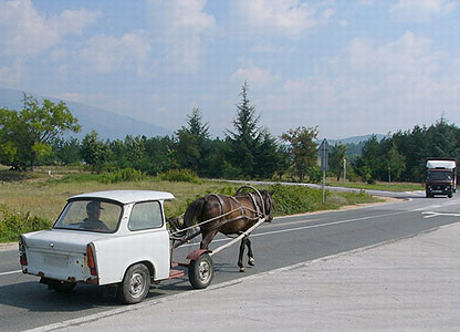 Horse-drawn Trabant, Bulgaria