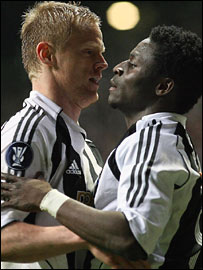 Damien Duff and Obafemi Martins