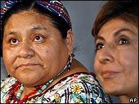 Rigoberta Menchú y Nineth Montenegro