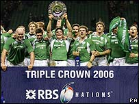 Victorious Ireland rugby team in 2006