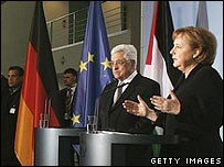 Abbas and Merkel