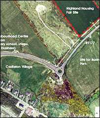 Aerial photograph of the Highland Housing Fair site (Pic: RIAS)