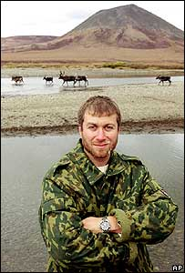 Roman Abramovich in the Chukotka region of Russia