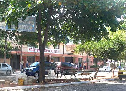 Frente del Hospital de Barrio Obrero