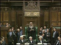 Lord Weatherill presiding over the House of Commons