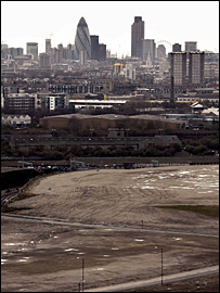 The Olympic site in east London