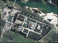 Satellite view of North Korean nuclear reactor at Yongbyon - file photo 2002