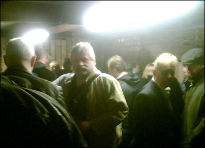 Passengers after the Cumbrian train crash (picture from Caroline Thomson)