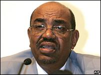 Sudanese President Omar al-Bashir (file image)