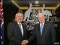 John Howard (left) with Dick Cheney
