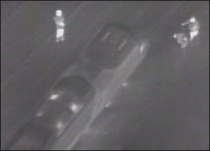 RAF footage of the crash site