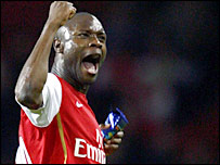 Arsenal defender William Gallas