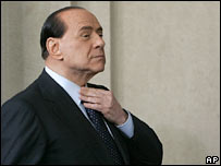 Forza Italia party leader and ex-PM Silvio Berlusconi