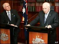 John Howard (left) and Dick Cheney