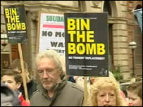 Bin the Bomb march in Glasgow