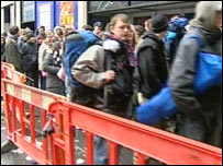 Hundreds of fans queued for tickets in Glasgow