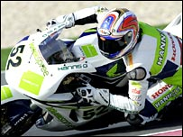 James Toseland in action in Qatar.