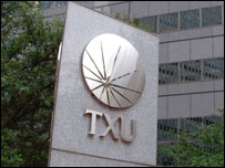 TXU sign