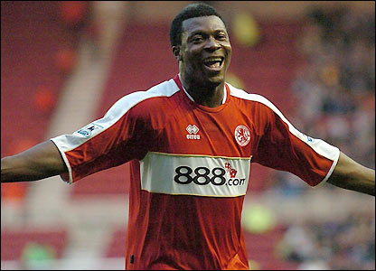 Yakubu scores Boro's second against Reading