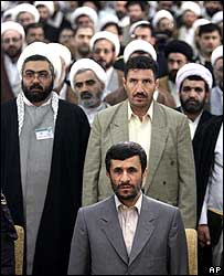 President Ahmadinejad and gathering of clerics