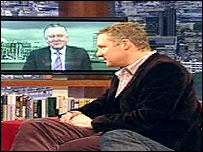 Peter Hain and Rory Bremner on BBC One's Sunday AM