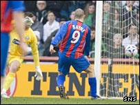 Graham Bayne fires home to put Caley Thistle ahead