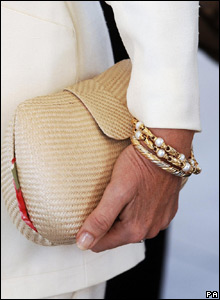 The Duchess of Cornwall's bracelets and bag