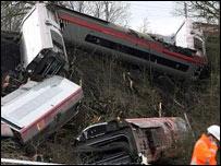 Train crash in Cumbria