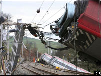 Train crash at Grayrigg