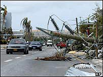 Damage in Georgetown, Grand Cayman after Hurricane Ivan