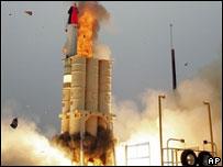 Испытание американской противоракеты Arrow в Калифорнии