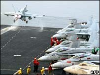 Aircraft on US carrier in Gulf of Oman