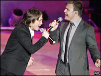 Mark Owen and Gary Barlow