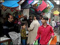 Kite flying in Pakistan